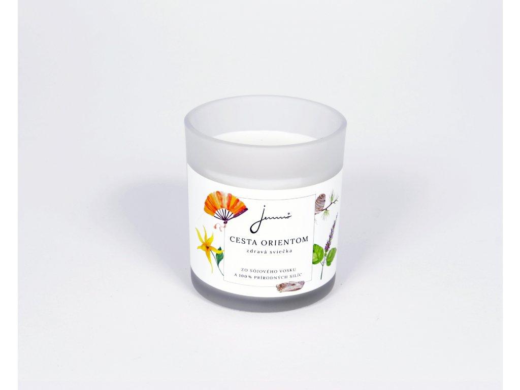 Jemnô sójová sviečka Cesta orientom, 150 g.