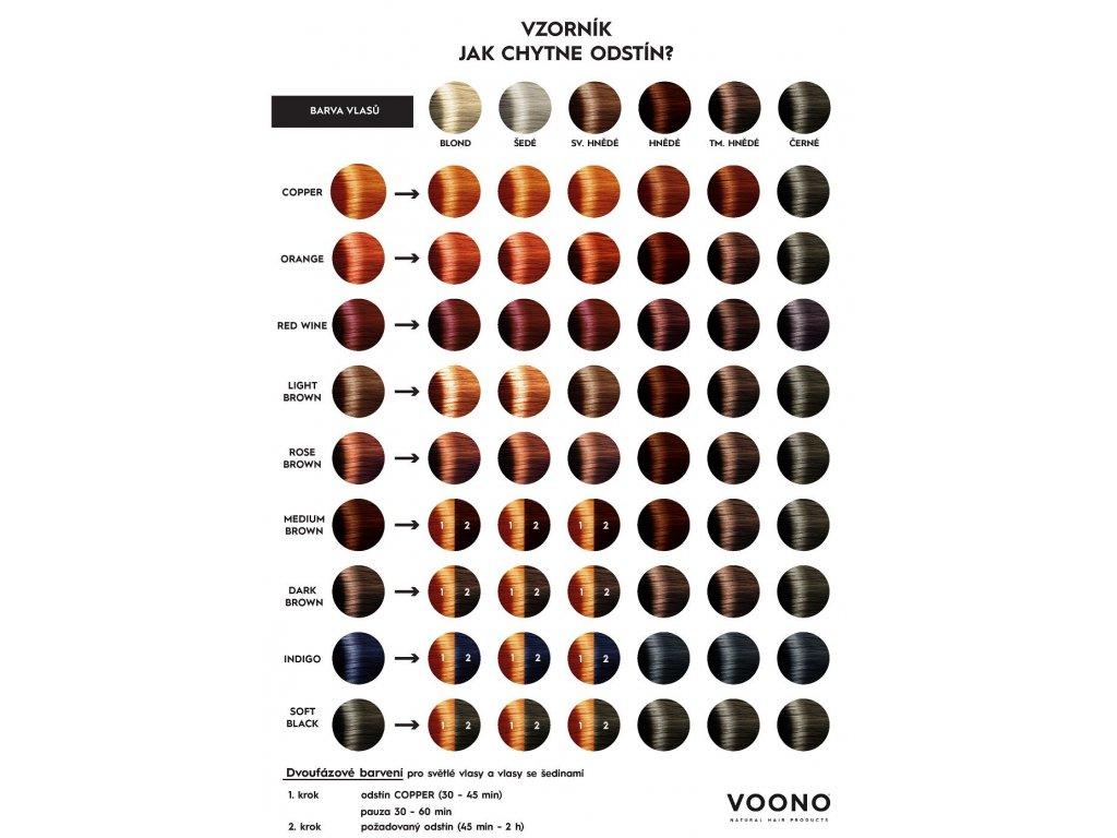 VOONO farba na vlasy Henna COPPER, 100 g