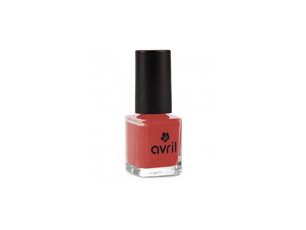 avril 732retro red nail polish vegan cruelty free made in france