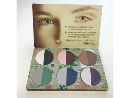 Veg up paleta očných tieňov  Veggy 6 x očný tieň duo, 6 x 4g.