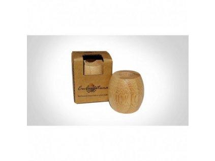 Curanatura bambusový stojanček na zubné kefky malý ( pre jednu kefku) 1 ks