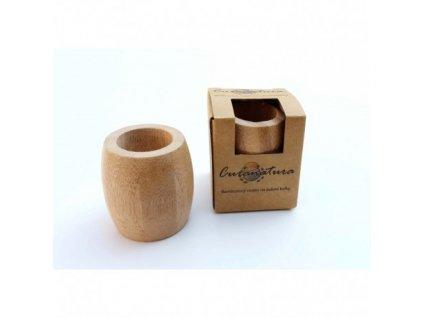 Curanatura bambusový stojanček na zubné kefky (3-4 kefky) veľký 1 ks